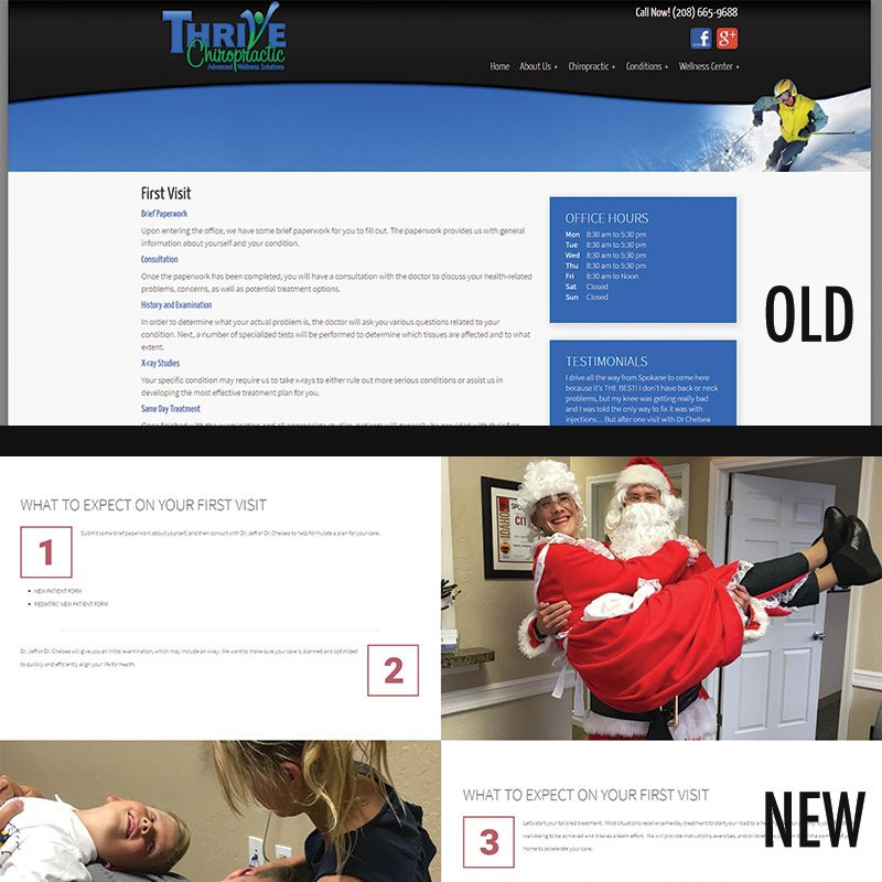 Thrive Chiropractic First Visit Page